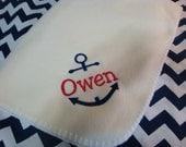 Nautical Baby Blanket Monogrammed