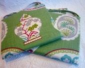 """2 Festive Floral Chair cushions 14"""" x 14"""""""