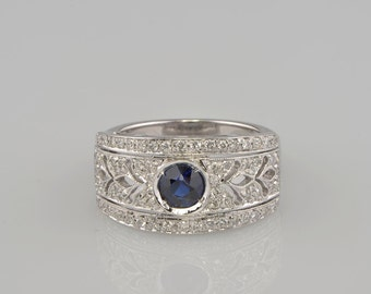 Fabulous sapphire and diamond fine ring of your dreams