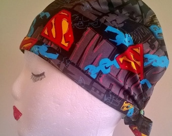 Superhero Superman Traditional Scrub Hats for Men and Women