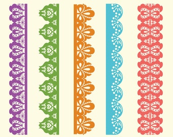 15 Digital Lace for Scrapbooking. Lace clipart. Decorative Strips & Borders. Lace Strips. Lace Borders. PNG, Instant Downloads. Rusteam