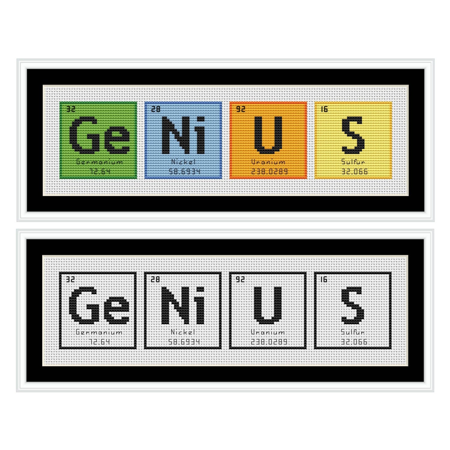 Genius periodic table chemical element cross stitch chart zoom gamestrikefo Image collections