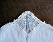 Blue Dresser Scarf, Vintage Dresser Scarf, Table Runner, Vintage Linens, Doily, Table Top, Bedroom, Cotton Runner, Light Blue, Shabby