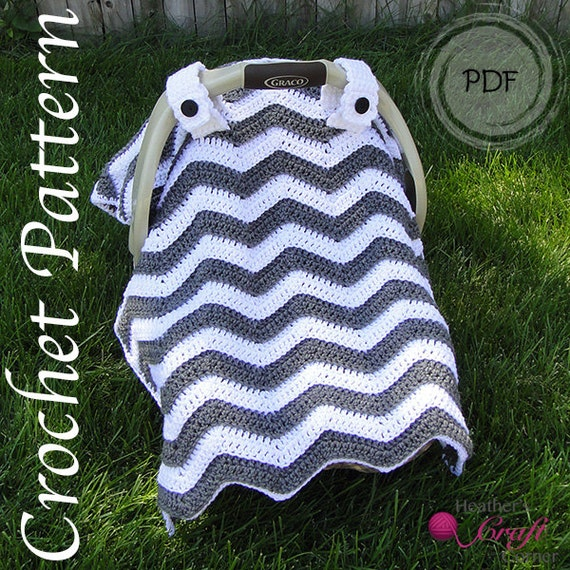 crochet pattern chevron car seat canopy. Black Bedroom Furniture Sets. Home Design Ideas
