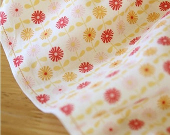 Daisy Cotton Fabric Flower - Red - By the Yard 50820