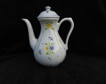 VintageTeapot: Ceramic Hand Decorated