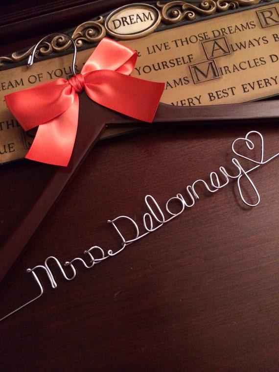 HUGE SALE Personalized Bridal Wedding Hanger / Bridal Hanger / Wedding Hanger / Bridal Party / Custom Hanger