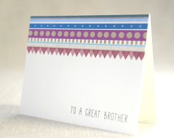 to a great brother - Bridal Stationery Note - Card