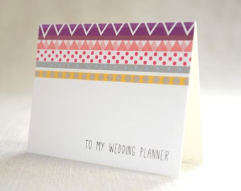 to my wedding planner - Bridal Stationery Note - Card