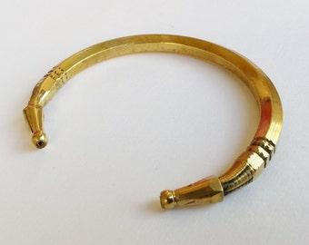 brass cuff bracelet tapered design T 14