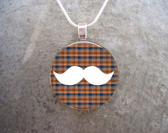PRE-ORDER Hipster Jewelry - Moustache - Plaid Mustache 15