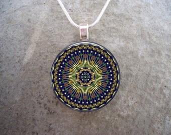 Mandala Jewelry - Glass Pendant Necklace - Mandala 30 - PRE-ORDER