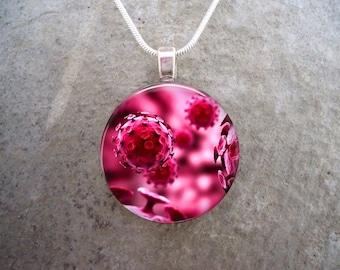 Virus Jewelry - Glass Pendant Necklace - Science Jewellery - Virus 6