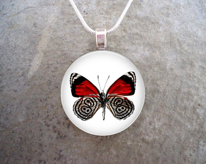 Butterfly Jewelry - Glass Pendant Necklace - Butterfly 22 - RETIRING 2017