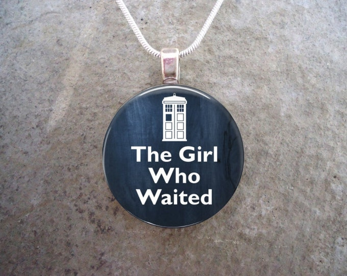 Doctor Who Jewelry - The Girl Who Waited - Glass pendant Necklace