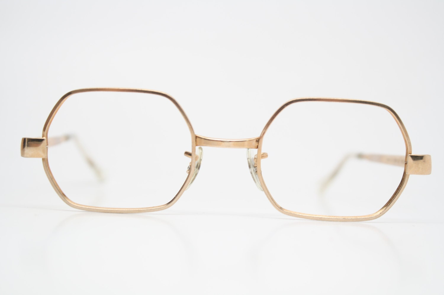 Eyeglass Frames Square : Antique Glasses Frames Square shaped 1/40 10k Gold vintage