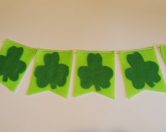 Shamrock Flag Banner in Greens - St. Patrick's Day