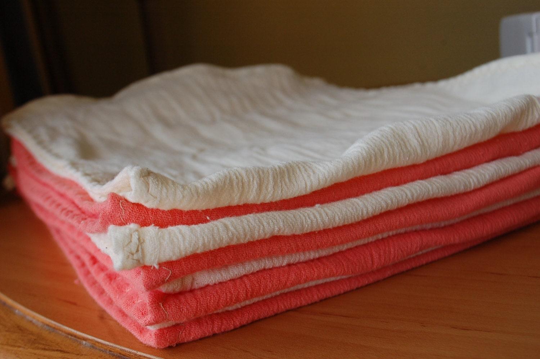8 Cotton Gauze Burp Cloths Burp Rags Spit Up Cloth By