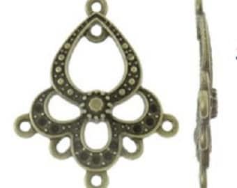 6PC antique bronze finish chandelier components-8018
