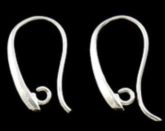 6pc silver finish brass earring hooks-5180M