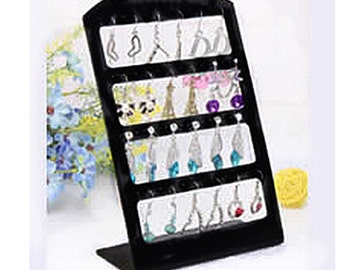 2 pc of Black Plastic Earring Displays-8951