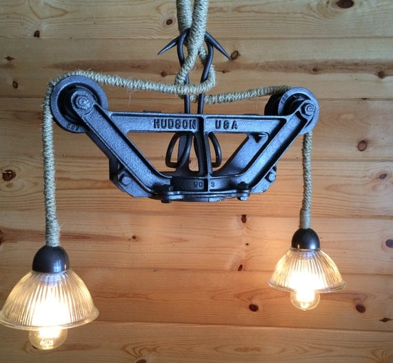Rustic Industrial Light Steel And Barn Wood Vanity Light: Light Pendant Ceiling Rustic Industrial Cast By