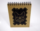 Hand Made Letterpress Printed Note Pad - Linocut French Bulldog