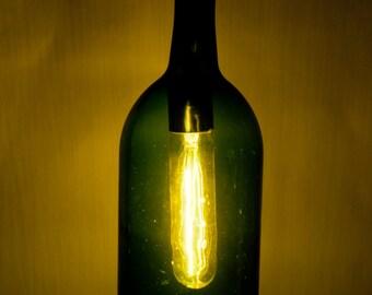 Upcycyled Wine Bottle Pendant Lamp, 1.5 L