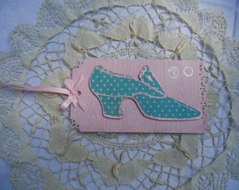 Shoe chic  - large decorative tag -