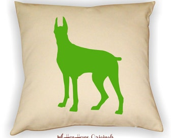 Great Dane Pillow Cover, Great Dane Art, Great Dane Gift, Great Dane Silhouette, Dog Breed Silhouette,Pet Silhouette, Great Dane Lover