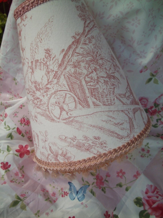 Beautiful vintage french chic shabby antique style toile de for Toile shabby chic