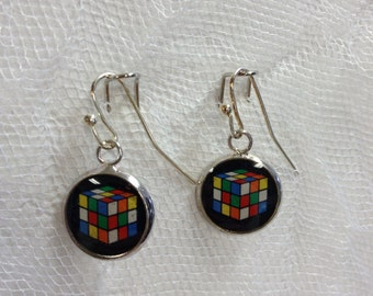 Rubik's Cube Earrings