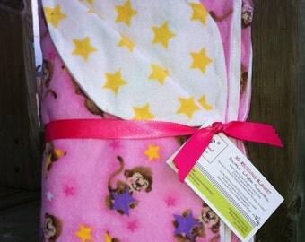 Monkey Girl Star flannel blanket