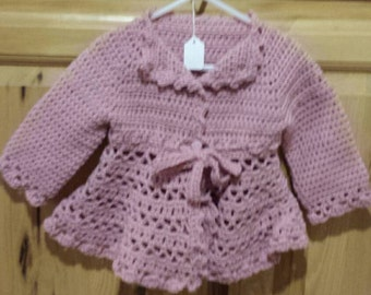 Baby girl sweater, Victorian sweater