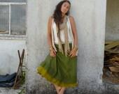 fairytale woodland green felt edged wrap skirt petticoat