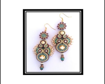 Mirabella Soutache Earrings- Tutorial