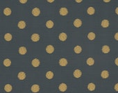 Grey and Mustard Yellow Polka Dot Upholstery Fabric by the Yard - Modern Geometric Fabric for Furniture - Heavy Duty Kitchen Chair Fabric
