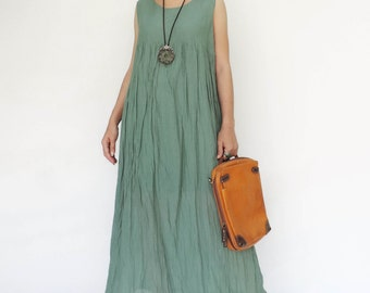 NO.143 Mint Cotton Easy Breezy Sleeveless Dress