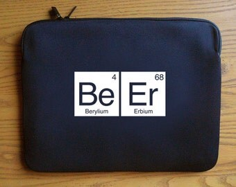 Beer Periodic Table Neoprene Laptop Sleeve 13 or 15 inches