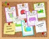 INSTANT DOWNLOAD -Digital File - Bug You Valentine Cards- Printable