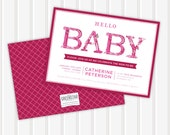 BABY type Baby Shower Invite | 5x7 | Double Sided