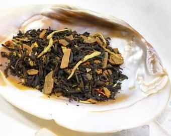 1 oz Come to the Labyrinth -  Black Tea - Apple Cinnamon loose leaf tea