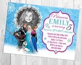 Disney Frozen Photo Birthday Invitation