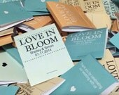 150 Seed Matchbooks - Love in Bloom Wedding Favors of Forget Me Not Seeds