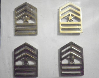 2 Prs. Goldplated U.S. Army Sergeant Major Badges