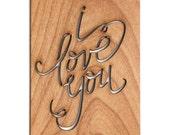 I Love You - Love Card, Anniversary Card, Valentine's Day Card
