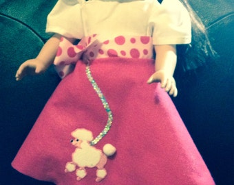 American girl poodle skirt and blouse