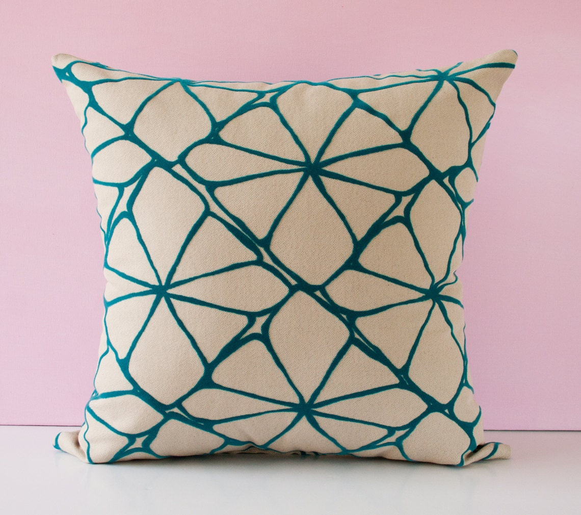 Turquoise Throw Pillows Covers : Turquoise pillow cover decorative throw pillow cushion by pillowdy