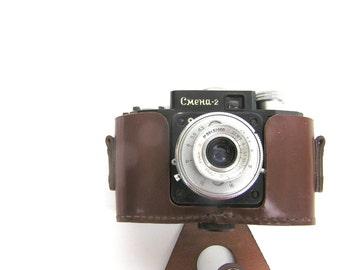 Soviet vintage camera Smena 2  Vintage photo camera Smena photo camera Vintage Russian cameras