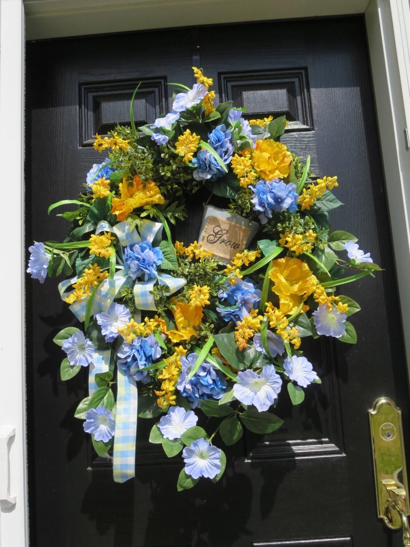 Spring Summer Door Wreath Door Wreath Spring Wreath Summer